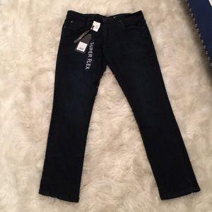 Super skinny flexible dark blue jeans 30x30 NWT